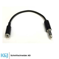 Adapter-Kabel  Klinkenstecker 4 pol 3.5mm